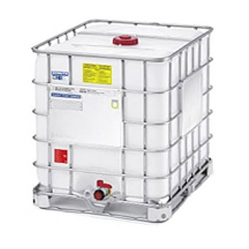 Reconditioned white container IBC 1000 L, -EX with UN metal or hybrid pallets