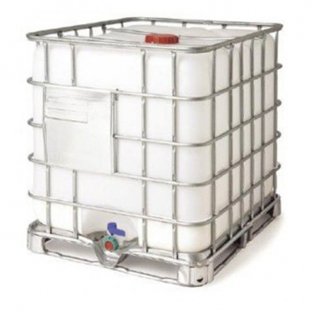 Reconditioned white container IBC 1000 L, with UN, steel pallet