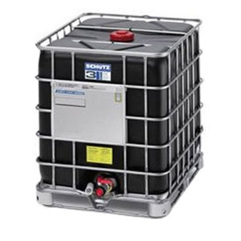 Reconditioned black container IBC 1000 L, with UN, all types of pallets